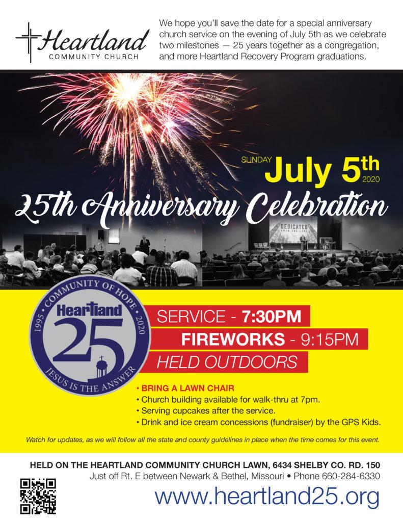 July 5, 2020 Church Anniversary